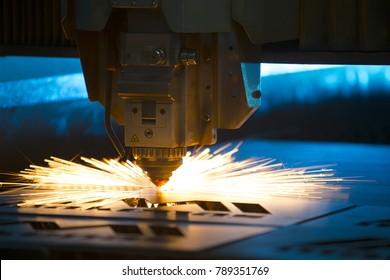 Metal, laser-cutting tool.