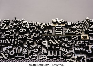 Metal Letterpress Types