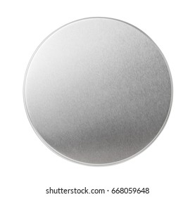 Metal lid of jar isolated on white. Top view.