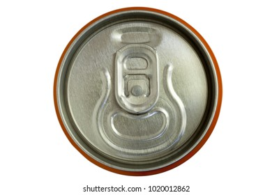 metal lid of the tin can