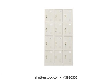 Metal Lockers on a white background