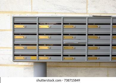 Apartment Mailbox Images, Stock Photos & Vectors | Shutterstock