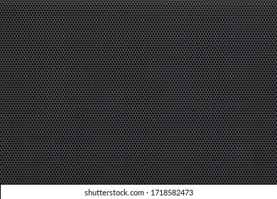 Metal mesh background pattern. Closeup of audio speaker protection perforated plate