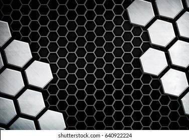 metal mesh with cellular design background