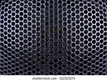Metal mesh in the shape of a hemisphere, background, Shallow DOF