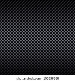 Metal mesh texture background over brushed aluminum metal with reflections