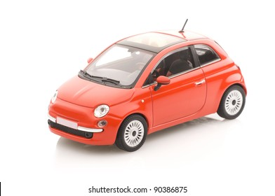 Metal model car with a sun roof.