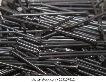 metal nails close-up as background