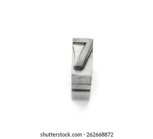 Metal number letterpress 1- 10