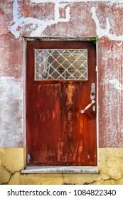 metal old red rusty door