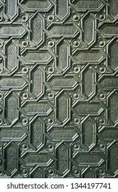 Metal ornanament background pattern