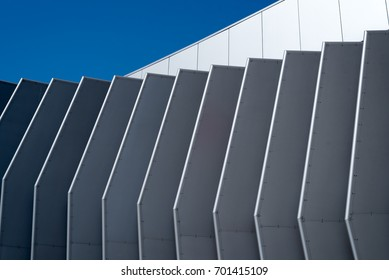 Metal Outer Wall at Tom Bradley Terminal at Los Angeles International Airport