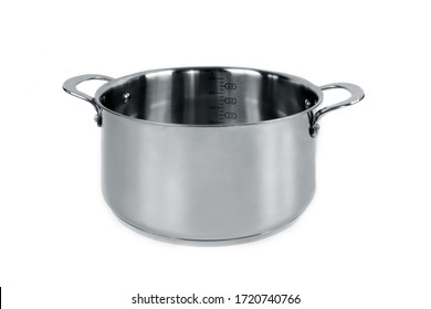 metal pan isolated on white background.