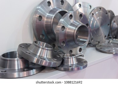 Metal parts made on a lathe. Industry
