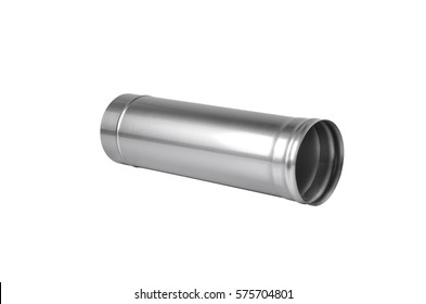 Metal pipes. Isolate on white background
