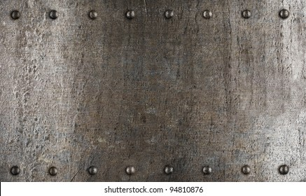 Metal plate or armour texture with rivets