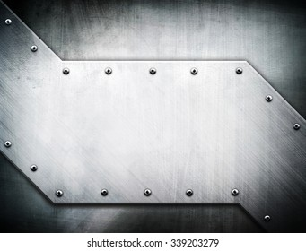 metal plate design background