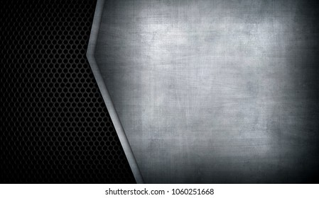 metal plate with hole background