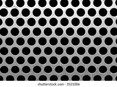 metal plate with round holes