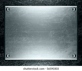 metal plate steel background