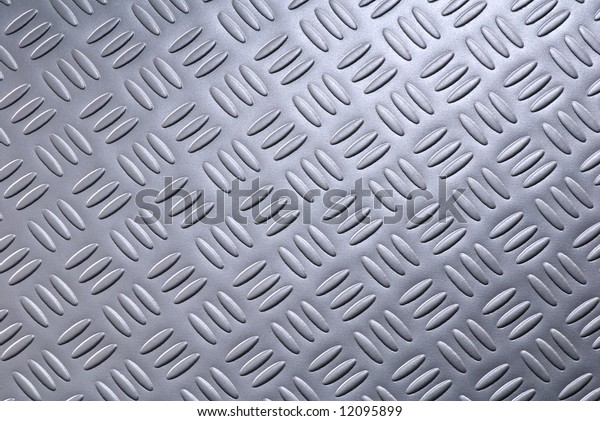 Metal plate with structure. A close up