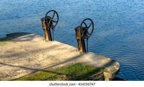 Metal pond drain