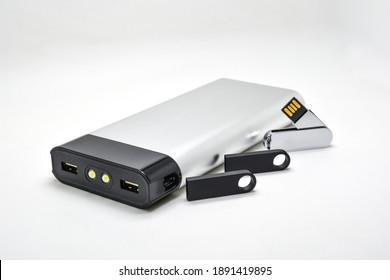 metal power bank and usb flashdrive