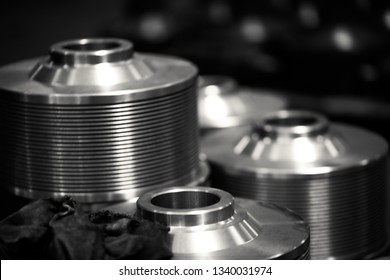 Metal products made by casting techniques closeup