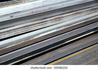 metal profile lies in heap