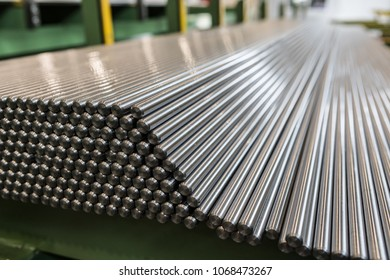 Metal profiles and tubes. Different stainless steel products