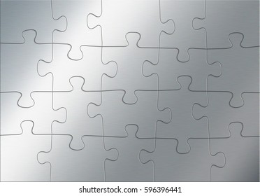 Metal puzzle as abstract background, 3d illustration