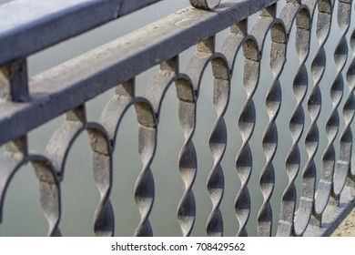 metal railings of the bridge