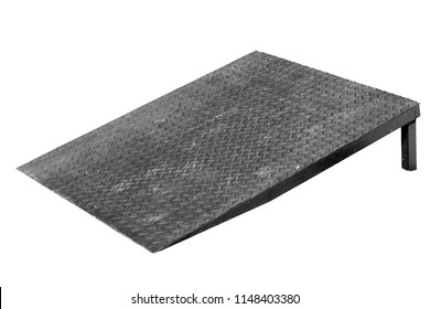 Metal ramp isolated on white background