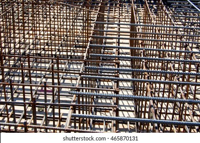 Metal reinforcements for the building of the foundation in the construction of residential houses, equipment for reinforcement of walls, roofs.