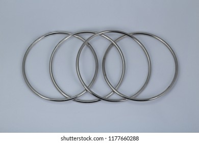 Metal ring isolated on white background