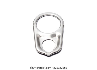 Metal ring pull isolated on white background