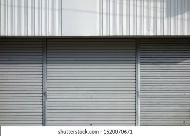 metal roll up door background
