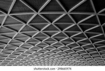 metal roof structure of modern building