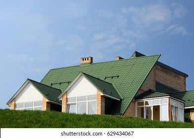 Metal roofing construction.