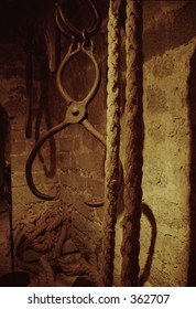 metal and rope