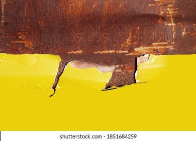 Metal Rust Background Yellow. old metal iron rust texture                     - Shutterstock ID 1851684259