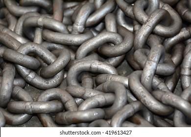 Metal rust chain heap texture industrial abstract background. Background. Backgrounds. Texture