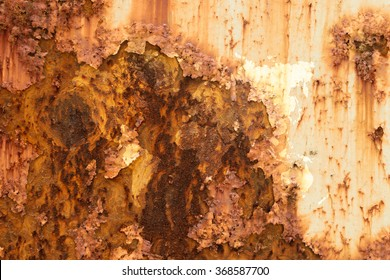 Metal rust wall texture surface natural color use for background with world map