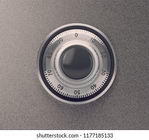 Metal safe lock