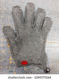 Metal safety mesh glove anticut