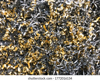 metal scrap and shavings made of brass and steel