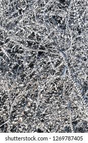 Metal shavings and steel wool at the junkyard