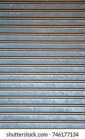 Metal sheet door