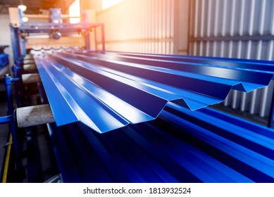 Metal sheet forming machine at the modern metalwork factory. - Shutterstock ID 1813932524