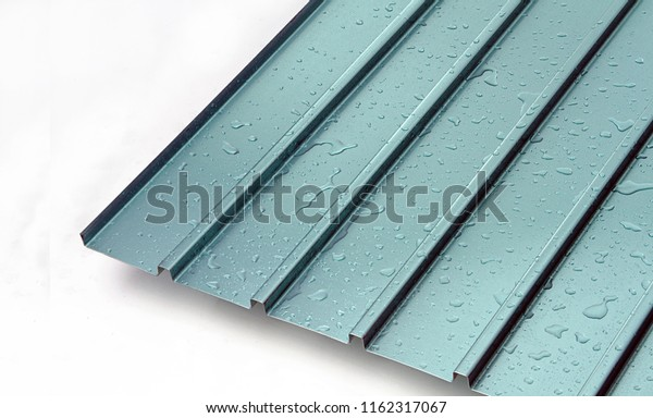 Metal Sheet Profile Steel Roofing Panel Stock Photo (Edit